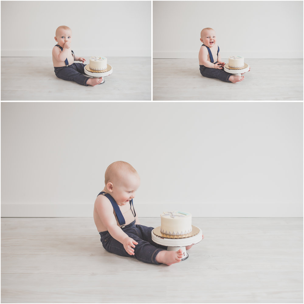 2 3 Cade 1 Year Old Cake Smash collage Milestone Session Cara Peterson Photography Rockford IL -1.jpg