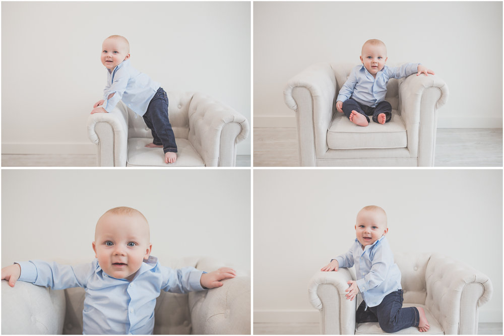 Cade 1 Year Old Cake Smash collage Milestone Session Cara Peterson Photography Rockford IL -1.jpg