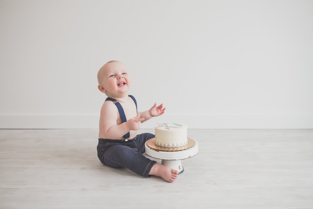 Cade 1 Year Old Cake Smash Milestone Session Cara Peterson Photography Rockford IL -22-2.jpg