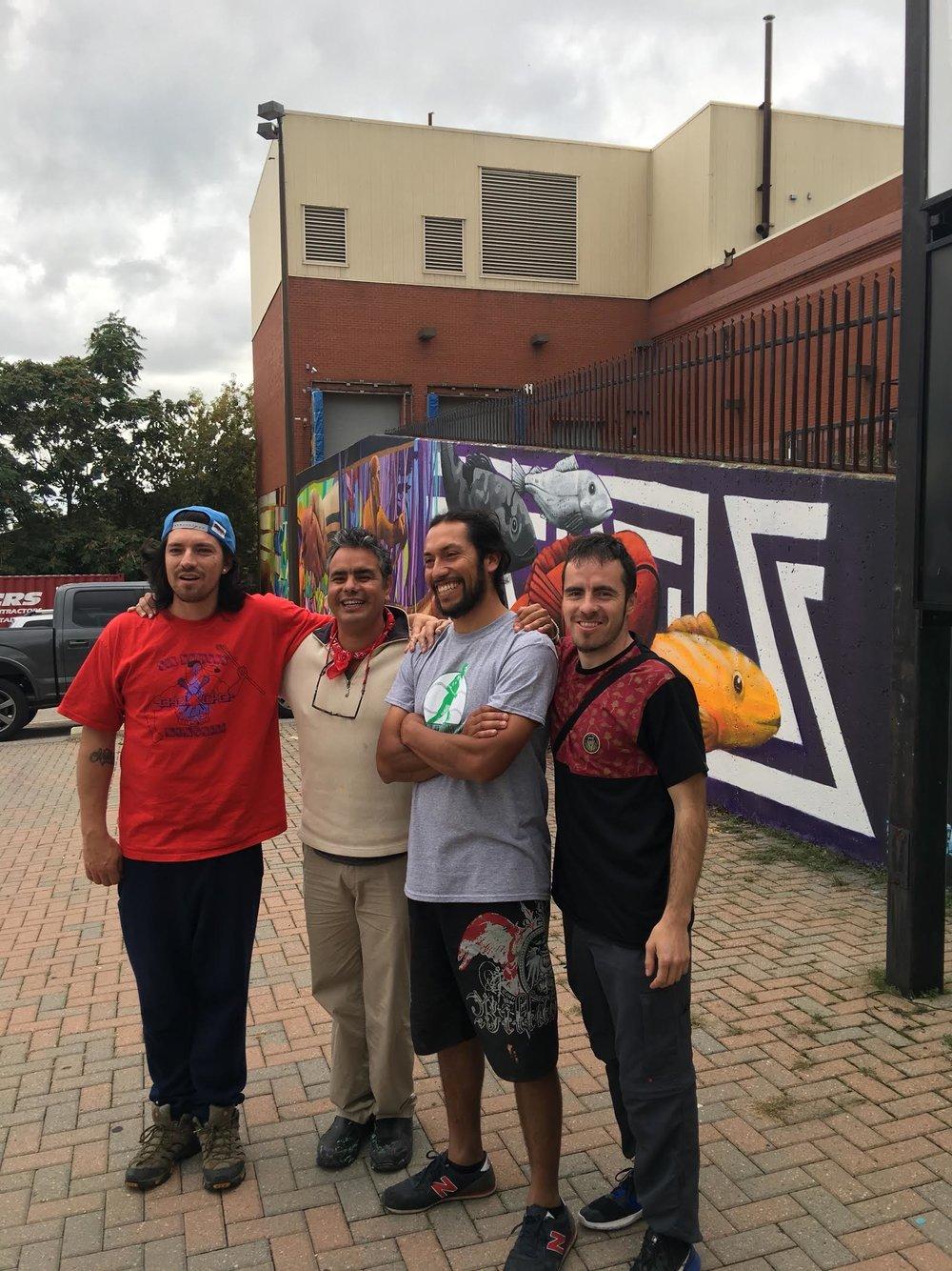 The Alapinta Muralists: Claudio Maher, Rodrigo Ardiles, Aner Urra & Gabriel Veloso