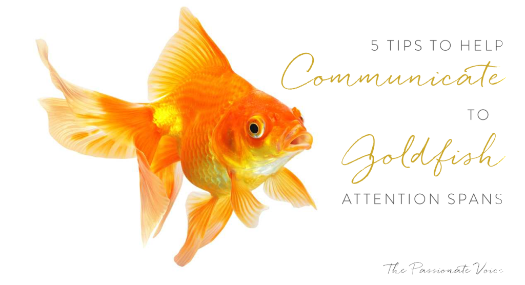 5 Tips to Communicate to Goldfish Attention Spans