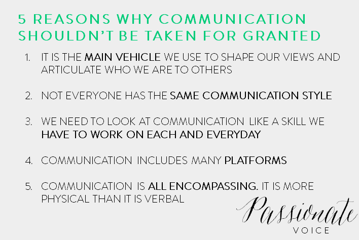 5 Reasons Why Communication Shouldn't Be Taken for Granted