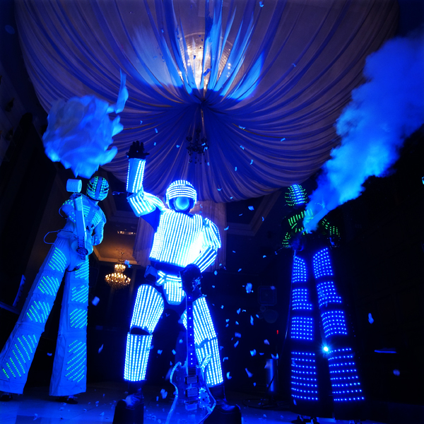 LED Robots - Add some futuristic fun with our LED Robots who are sure to brighten up the night with their lights and lasers!