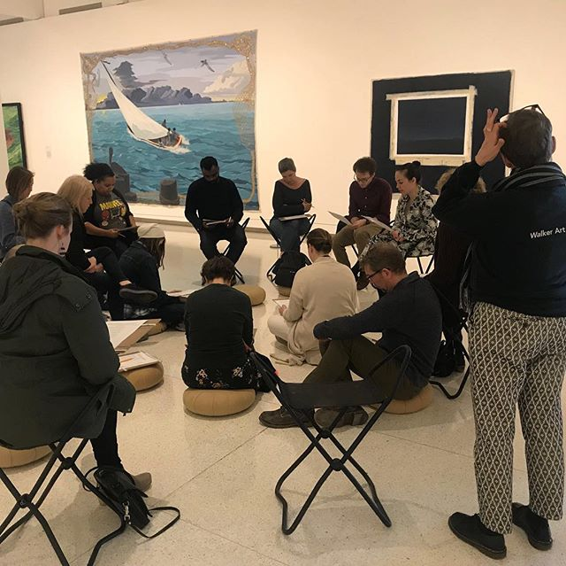 I loved leading this writing workshop  In the Five Ways In gallery @walkerartcenter on behalf of @loftliterarycenter! Reading and talking about poetry, wandering the gallery, and writing our own ekphrasis made for a magical evening ✨✨✨