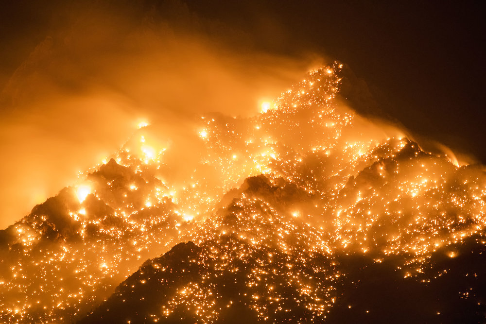 Georges Fire near Manzanar
