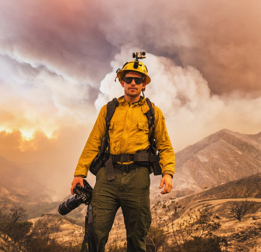 On Assignment - Stuart at the Sand Fire in Little Tujunga Canyon in the Angeles National Forest, July 2016