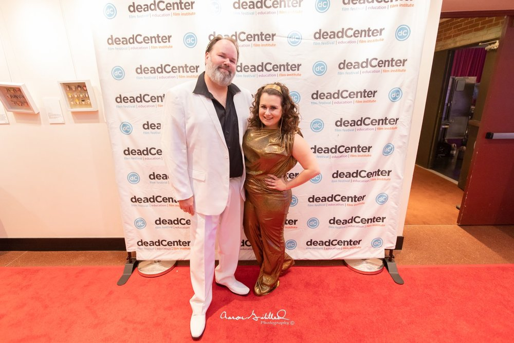 And of course Kayla and Brian also at deadCenter Film's Studio 54 kick off party, in full costume of course!