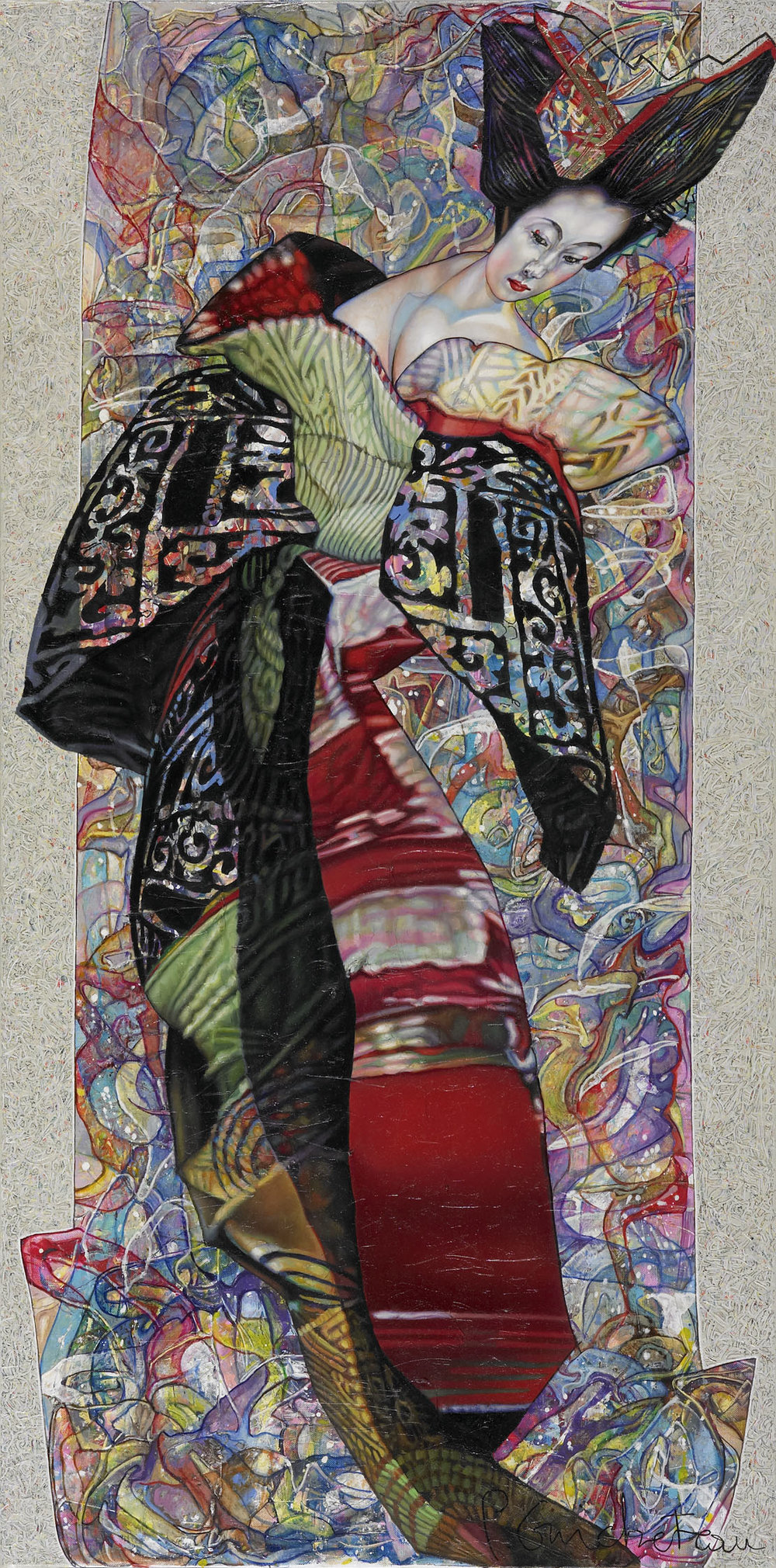 Geisha noire (120x60)