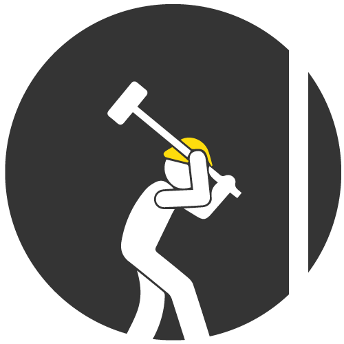 DEMOLITION - We Destroy Things You Want Destroyed.Safe & Quick. We Clean It Up, Too.