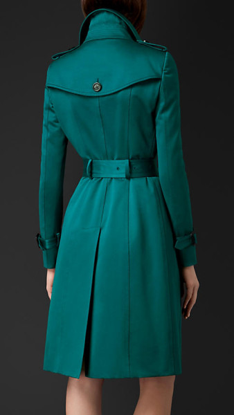 Burberry Prorsum Teal Trench