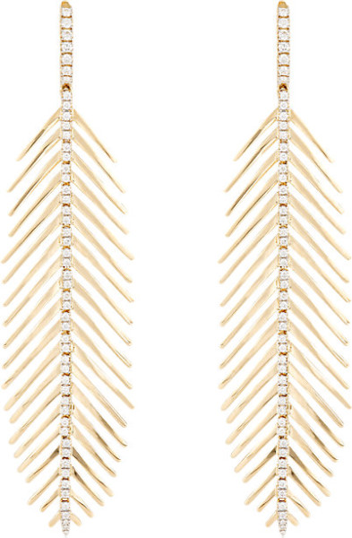 Sidney Garber Feather Earrings