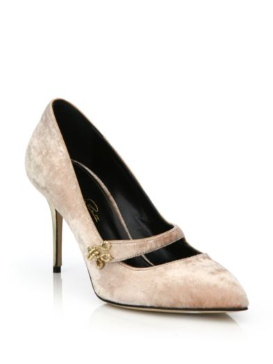 Oscar de la Renta Gata Velvet Mary Jane Pumps for much more than $100