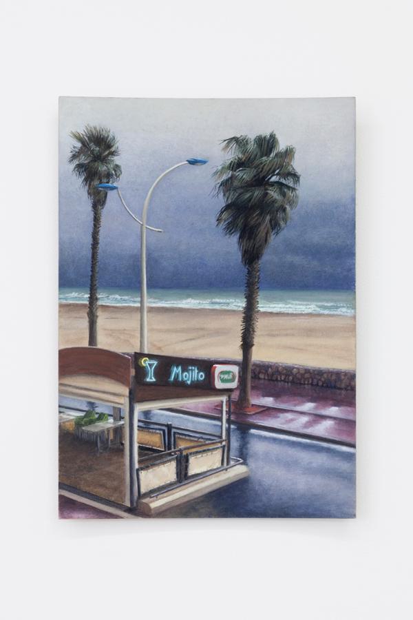 Louise Sartor,  Storm's End , 2018, gouache on cardboard, 11 5/8 x 8 1/4 in (29.7 x 21 cm)