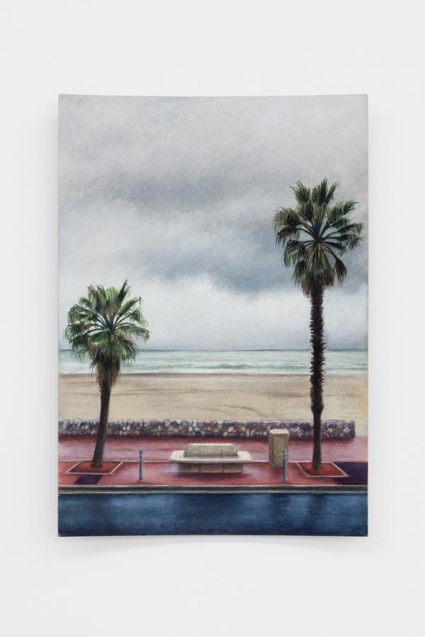 Louise Sartor,  Avenue de la Côte Vermeille , 2018, gouache on cardboard, 11 5/8 x 8 1/4 in (29.7 x 21 cm)