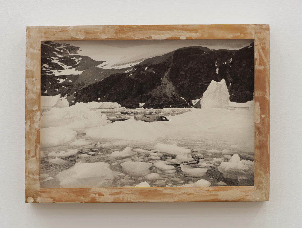 Will Rogan,  Reclining Nude , 2018, Gelatin silver print, wood, paint, 10 1/2 x 14 1/2 x 1 1/2 in