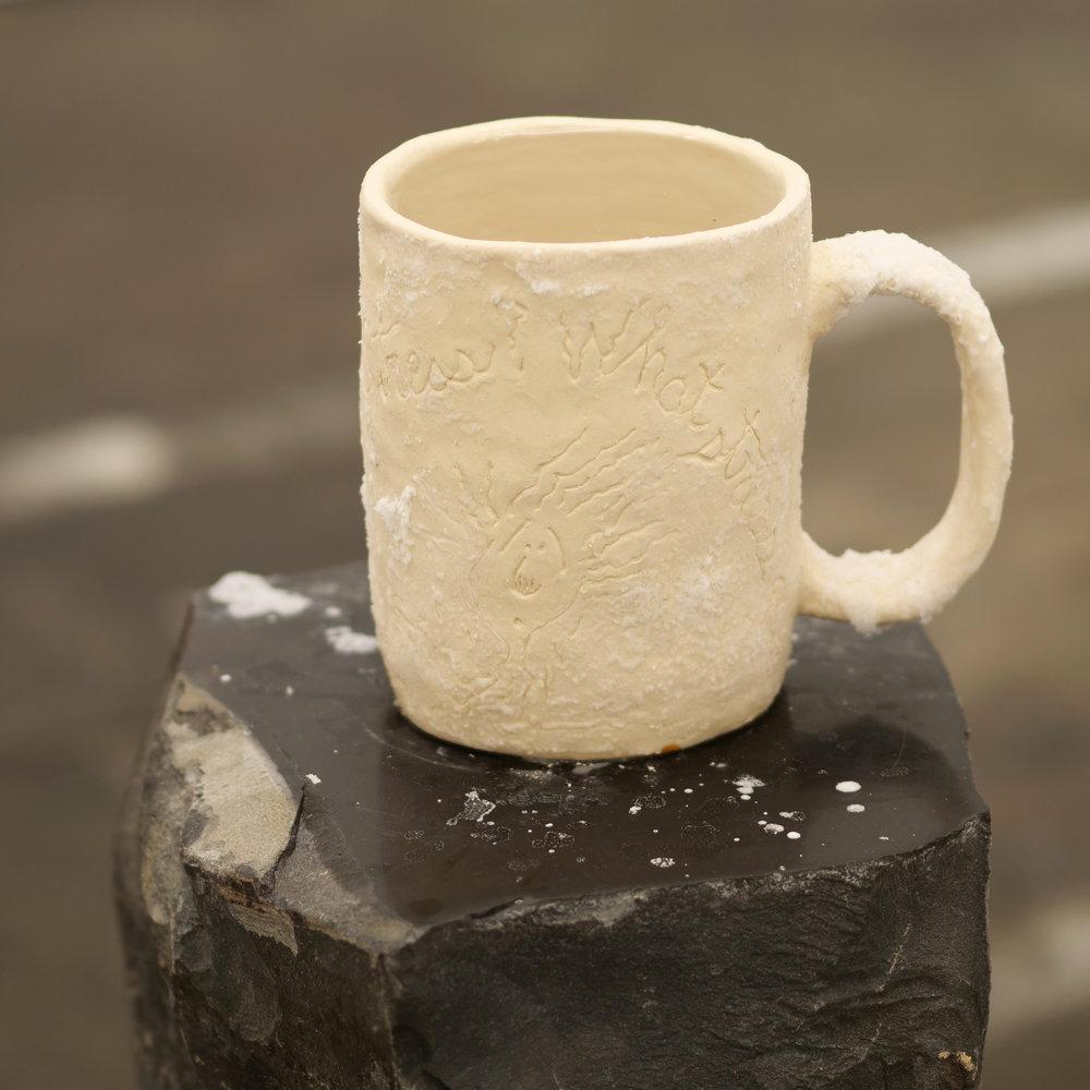Will Rogan,  Filter (Stress, What Stress?) , 2018, Ceramic, sea water, stone, 42 1/2 x 12 x 11 in