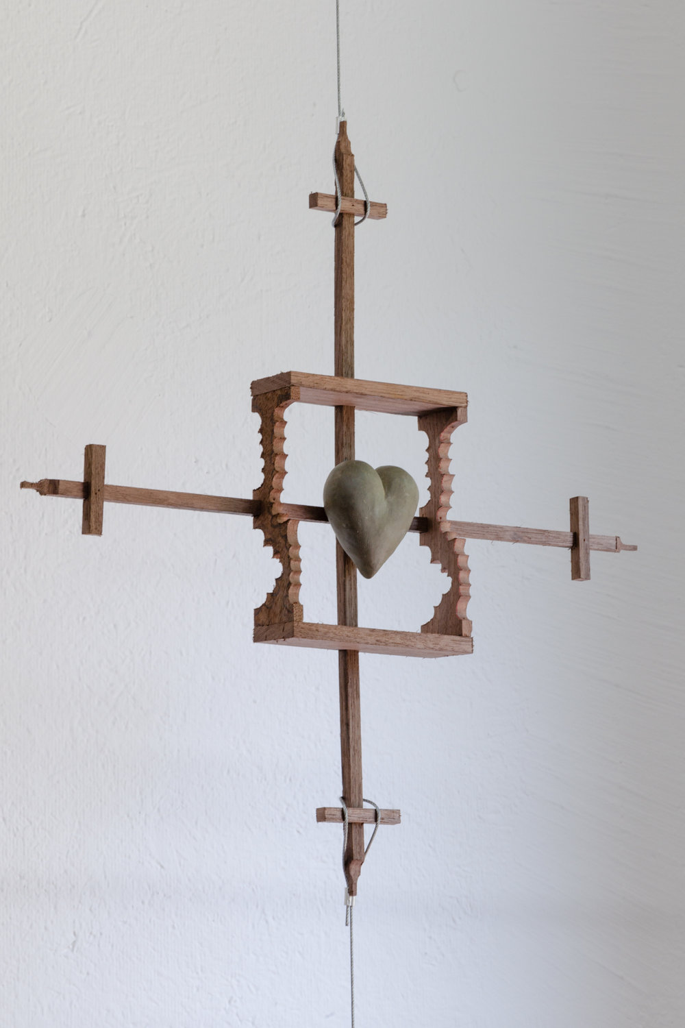 Harry Gould Harvey IV,  Radical Empathy I,  2018, Foraged Walnut from Aquidneck Island, Foraged Clay from Swans Island and Stainless Hardware, 139 x 16.5 x 2 inches