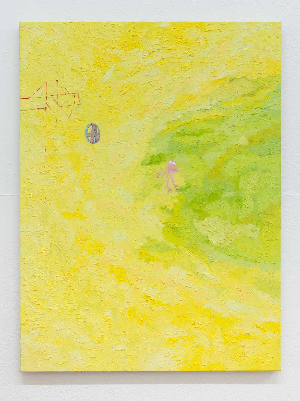 Jesse Sullivan,  Piss Frog , 2017, Oil on Canvas, 40 x 30 inches