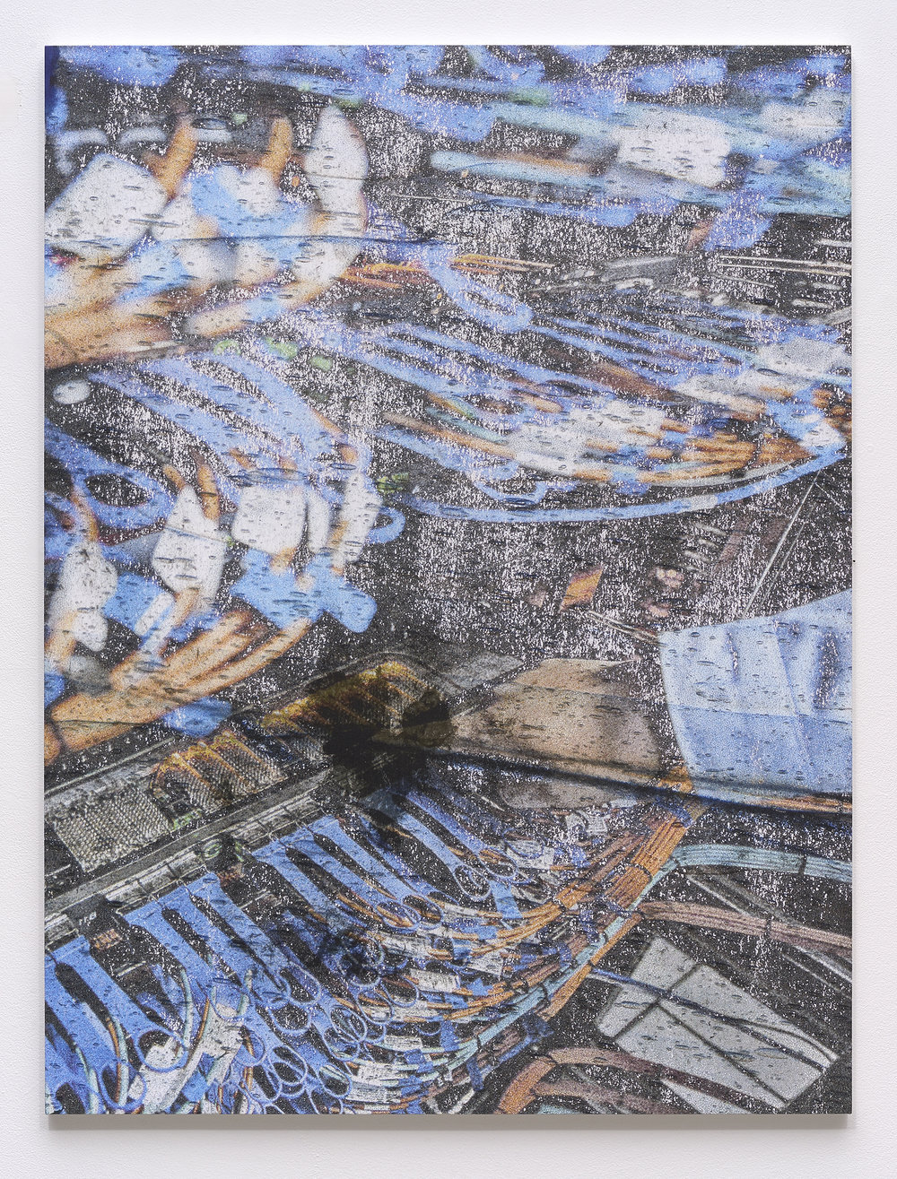 Hugh Scott-Douglas,  Untitled , 2018, UV cured inkjet print, digitally printed polyester resin on dibond, 53 x 40 inches
