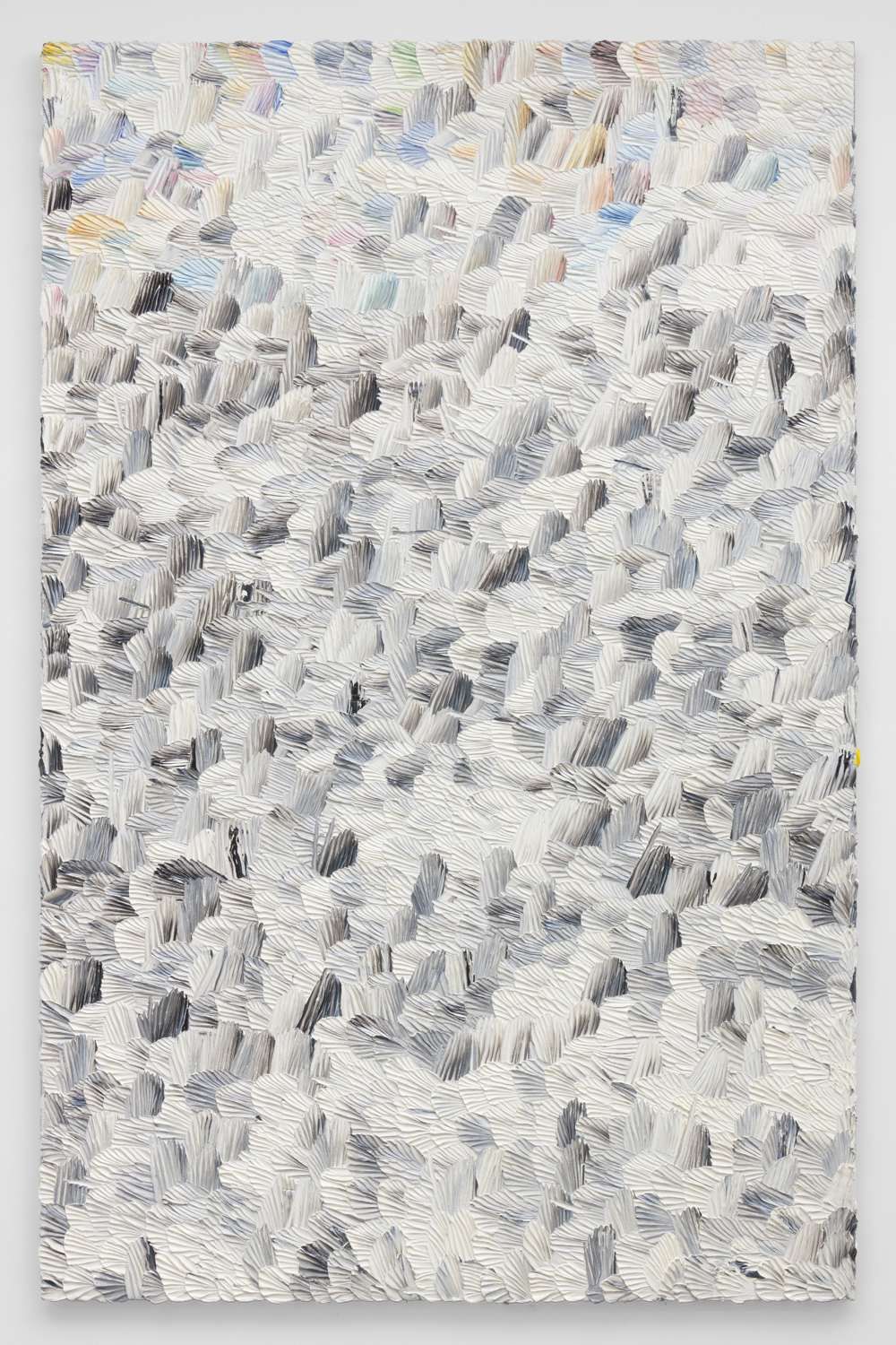 Dashiell Manley,  e.f.w. (t.s.f.n.) , 2018, Oil on linen. 82 x 53 inches