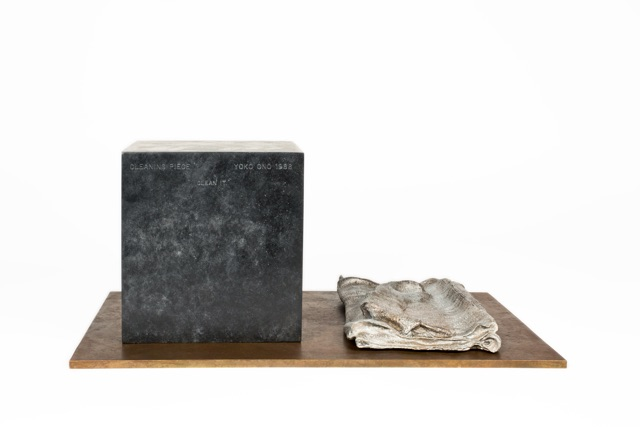 Yoko Ono,  Cleaning Piece , 1966 / 1988, Bronze, 6 1/4 x 15 x 10 inches
