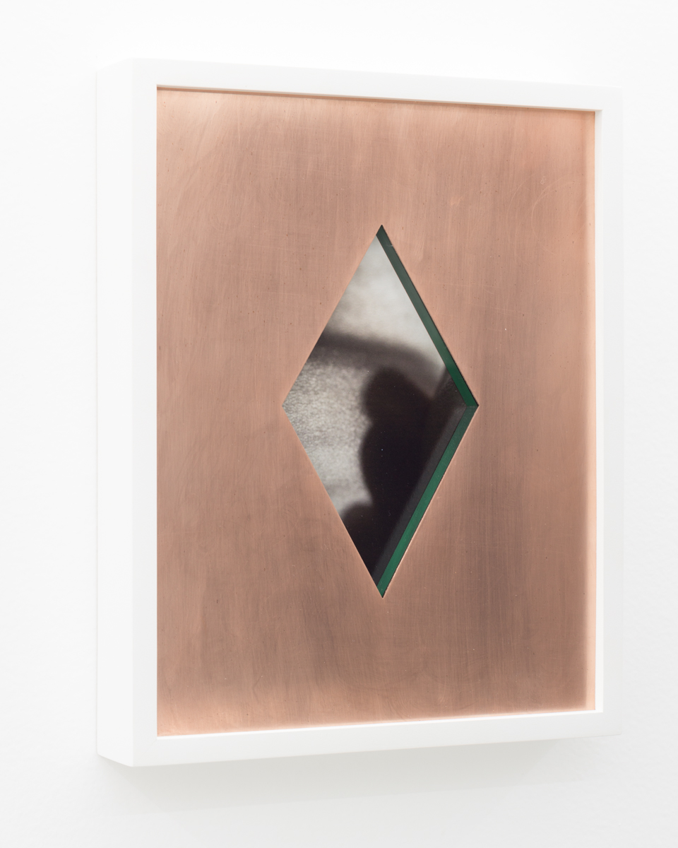 Ivan Iannoli,  Diamond , 2018, Copper, spray enamel on cast acrylic, pigment print, 8 x 10 inches