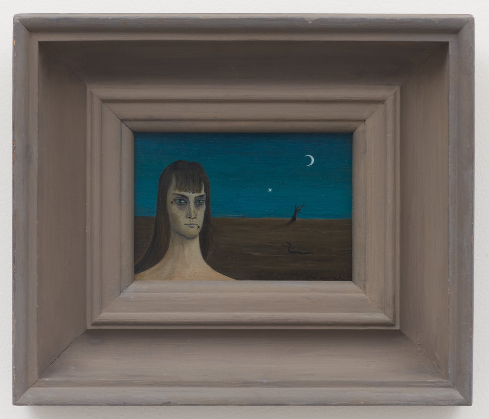 Star and Crescent,  1948, Oil on masonite, 5 × 7 inches (unframed); 11 × 13 inches (framed). Illinois State Museum, Illinois Legacy Collection.