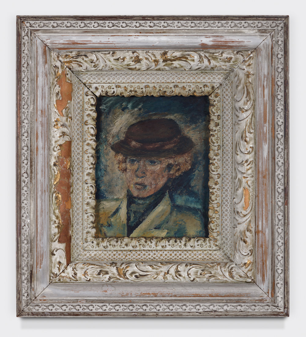Esther Wilcox,  1936, Oil on board, 9 1/2 × 7 1/2 inches (unframed); 20 × 18 inches (framed). Collection of Tom H. Ray.