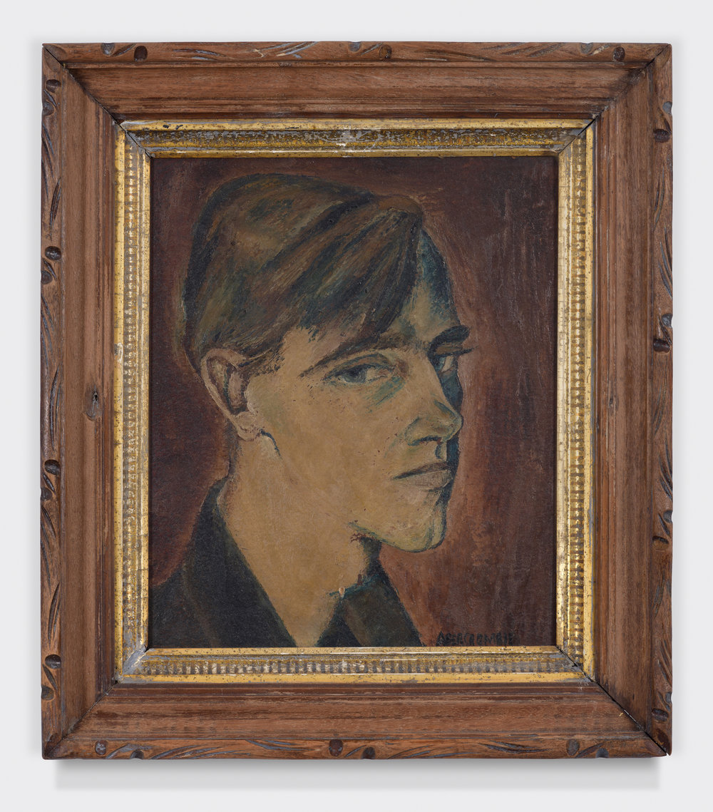 Wendell Wilcox,  ca. 1930-1936, Oil on masonite. 12 × 10 inches (unframed); 16 1/2 × 14 1/2 inches (framed). Collection of August Becker.