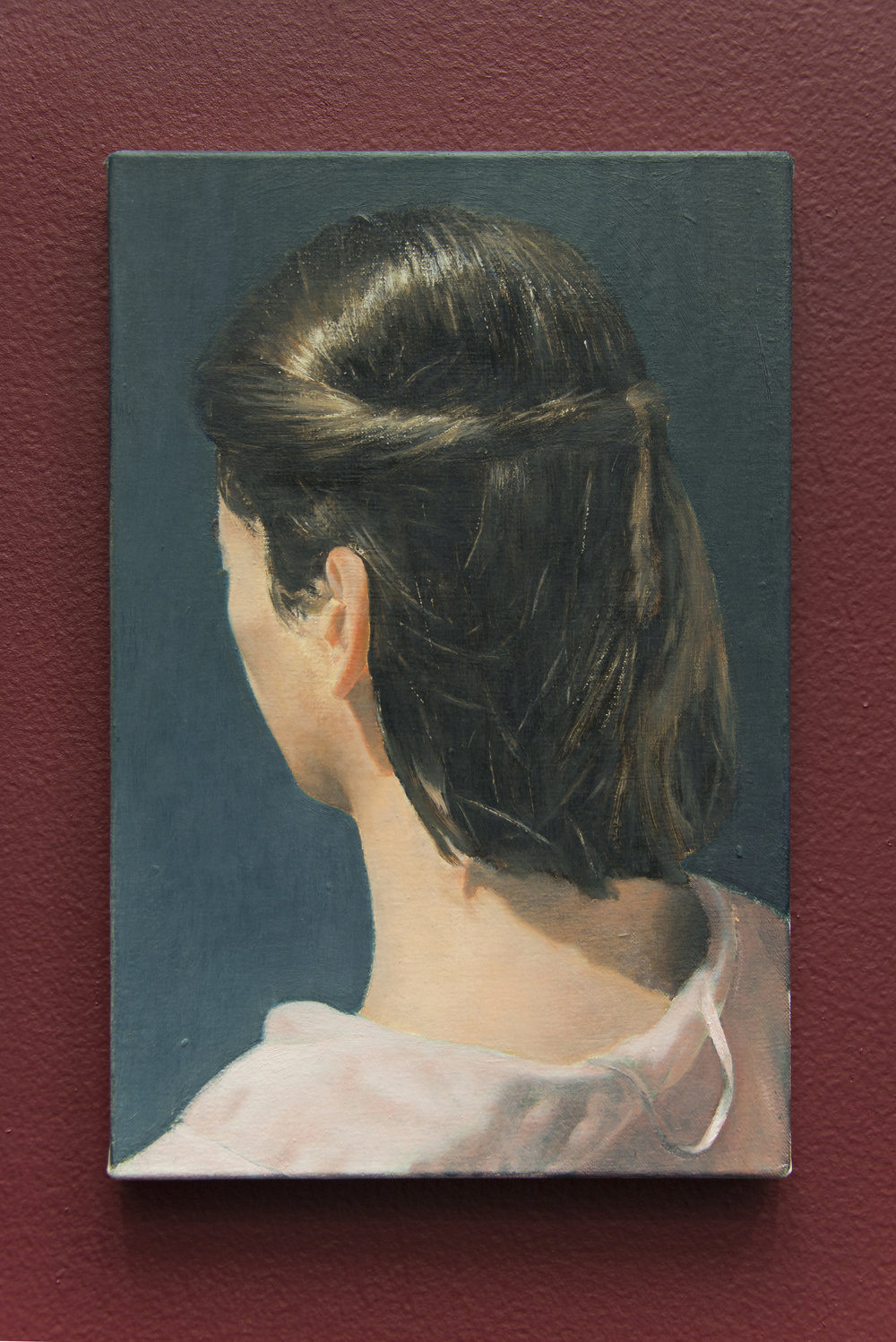 Rafal Topolewski,  Mariana , Oil on canvas, 12 x 8 inches