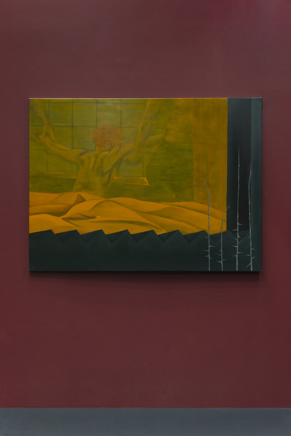 Lewis Hammond,  The Deposition , Oil on canvas, 58 x 46 inches