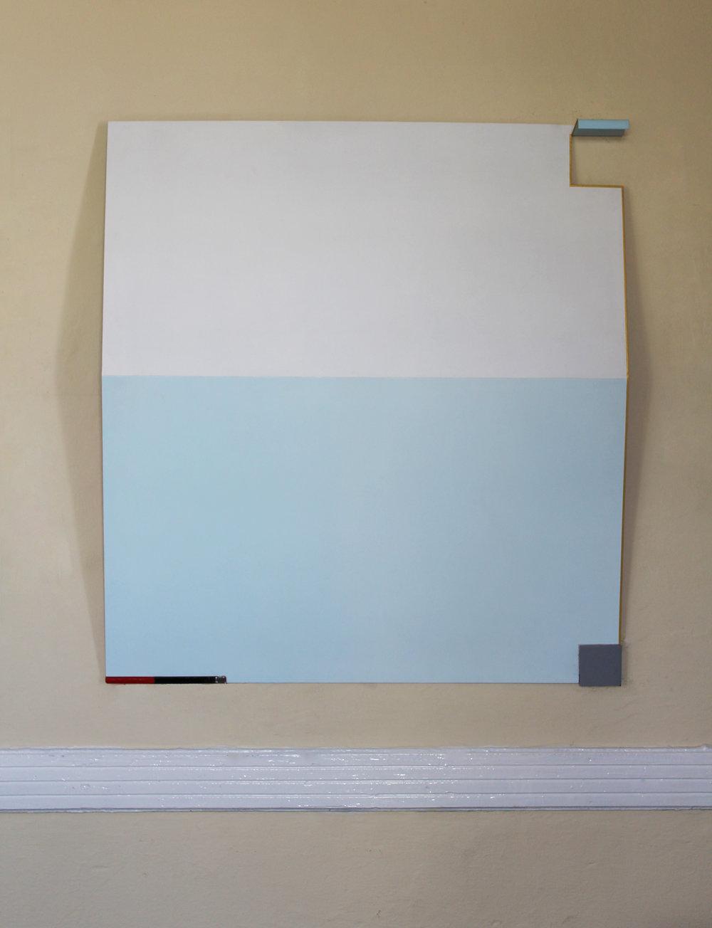 Pavlos Nikolakopoulos,  No Big Deal , 2015, Acrylic and epoxy color on metal sheet, 110 x 100 cm