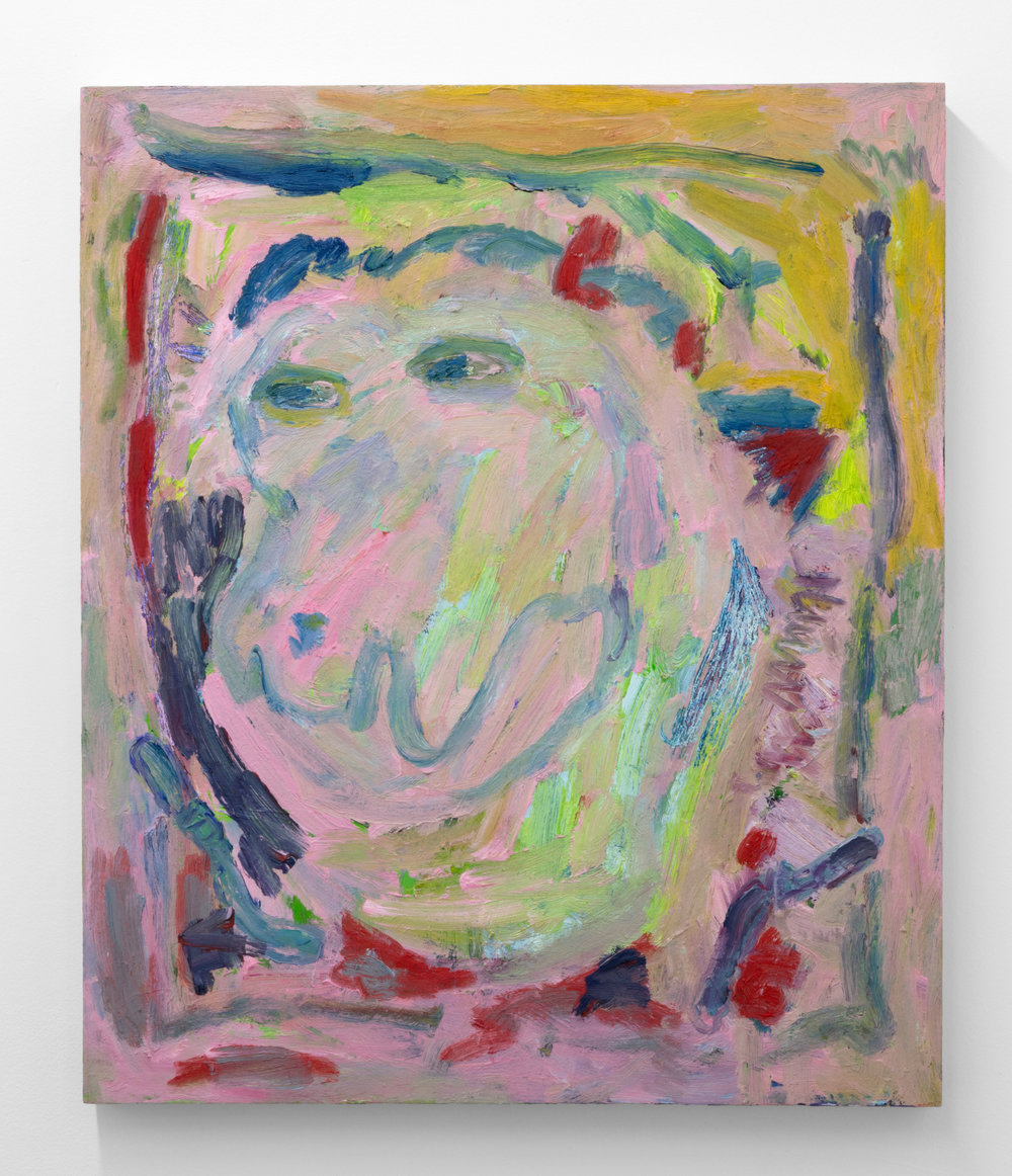 Adrianne Rubenstein,  Childhood Painting , 2018, Oil on panel, 26 x 22 in