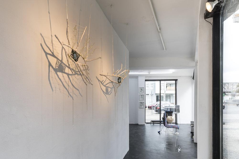 Mindy Rose Schwartz,  Hamsa , 2018, Branches, cord, rope, mirrors