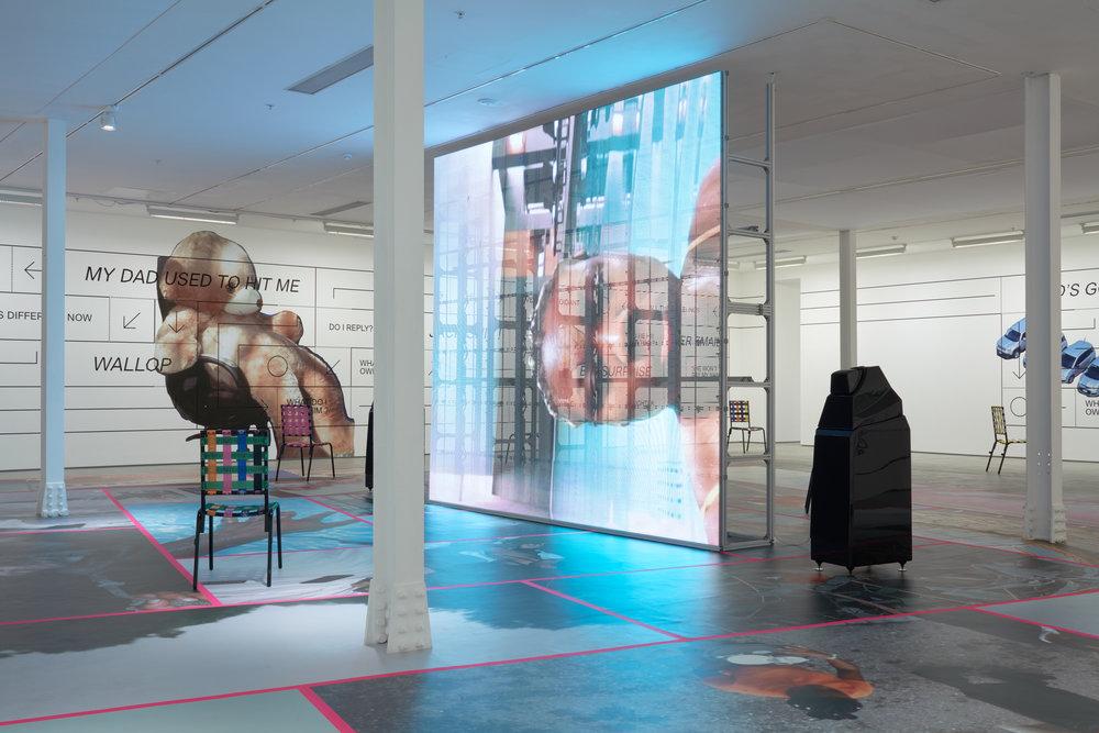 Installation view, Martine Syms,  Grand Calme