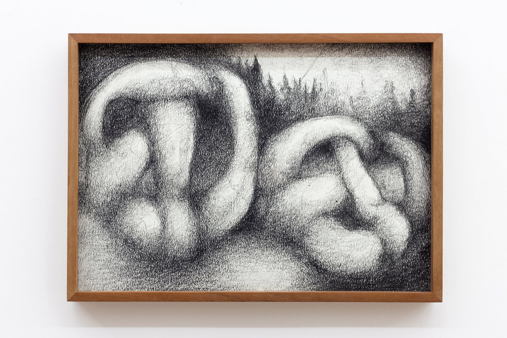 Till Megerle,  Untitled (Durst) , 2016, ink, pencil on paper, 30,5 x 22 cm