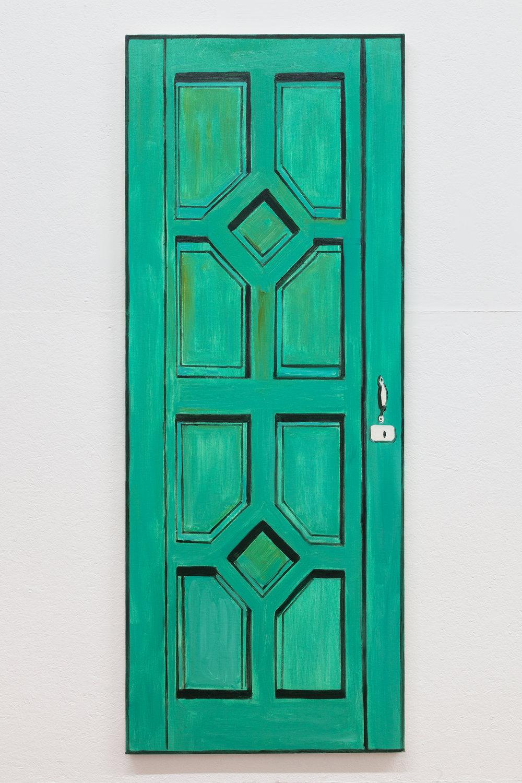 Richard Bosman,  Frida Kahlo Door , 2016 Oil on canvas, 72 x 28 inches
