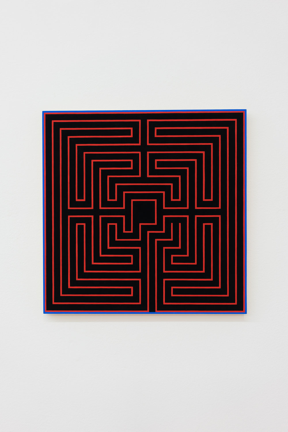 Sarah Hotchkiss,  First Maze , 2018 Gouache on panel 16 x 16 in.