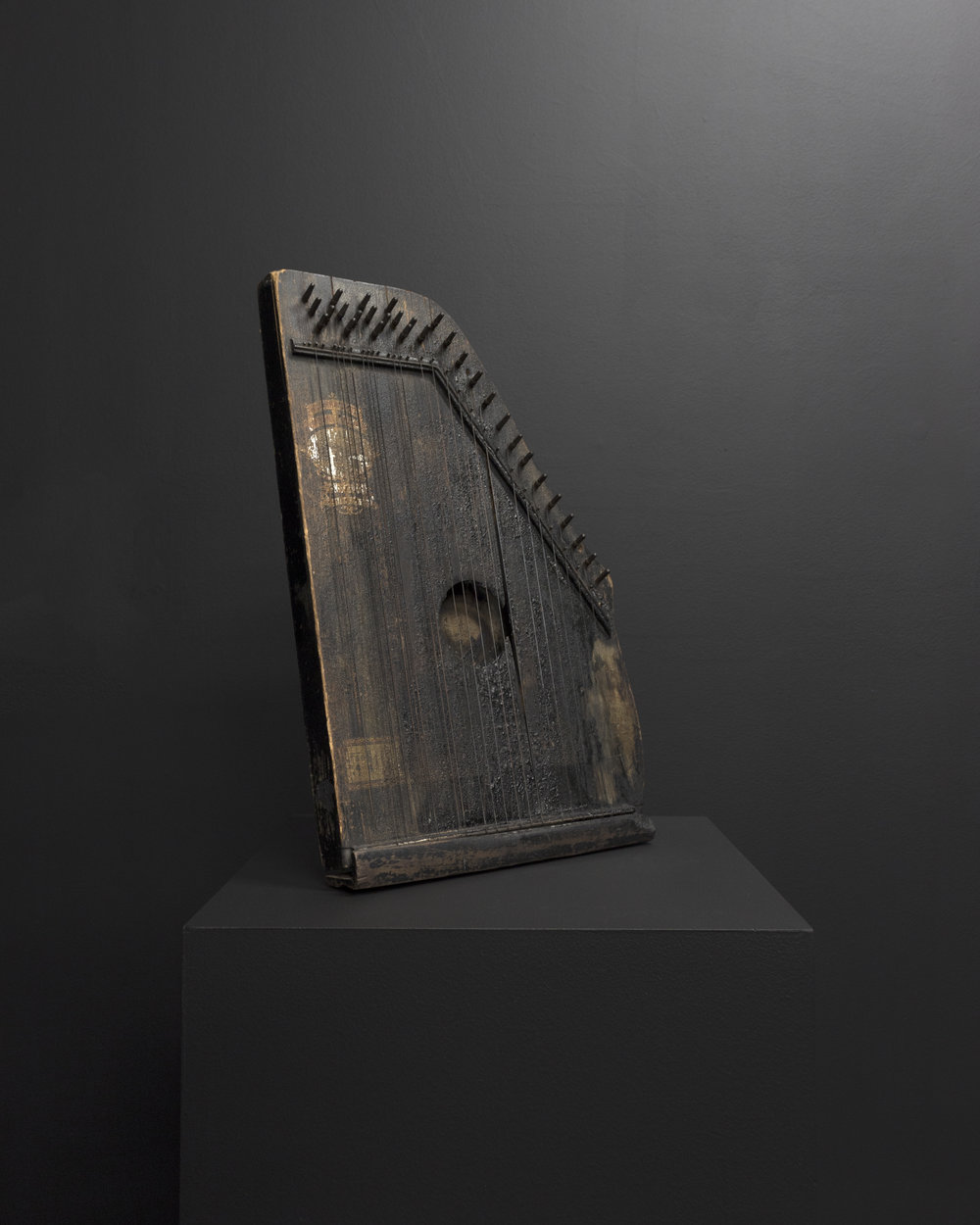 Micca Schippa,  when mineral rich groundwater permeates organic materials and fills the empty spaces, a fossil is formed , Oscar Schmidt Menzenhaurer Autoharp. 2018