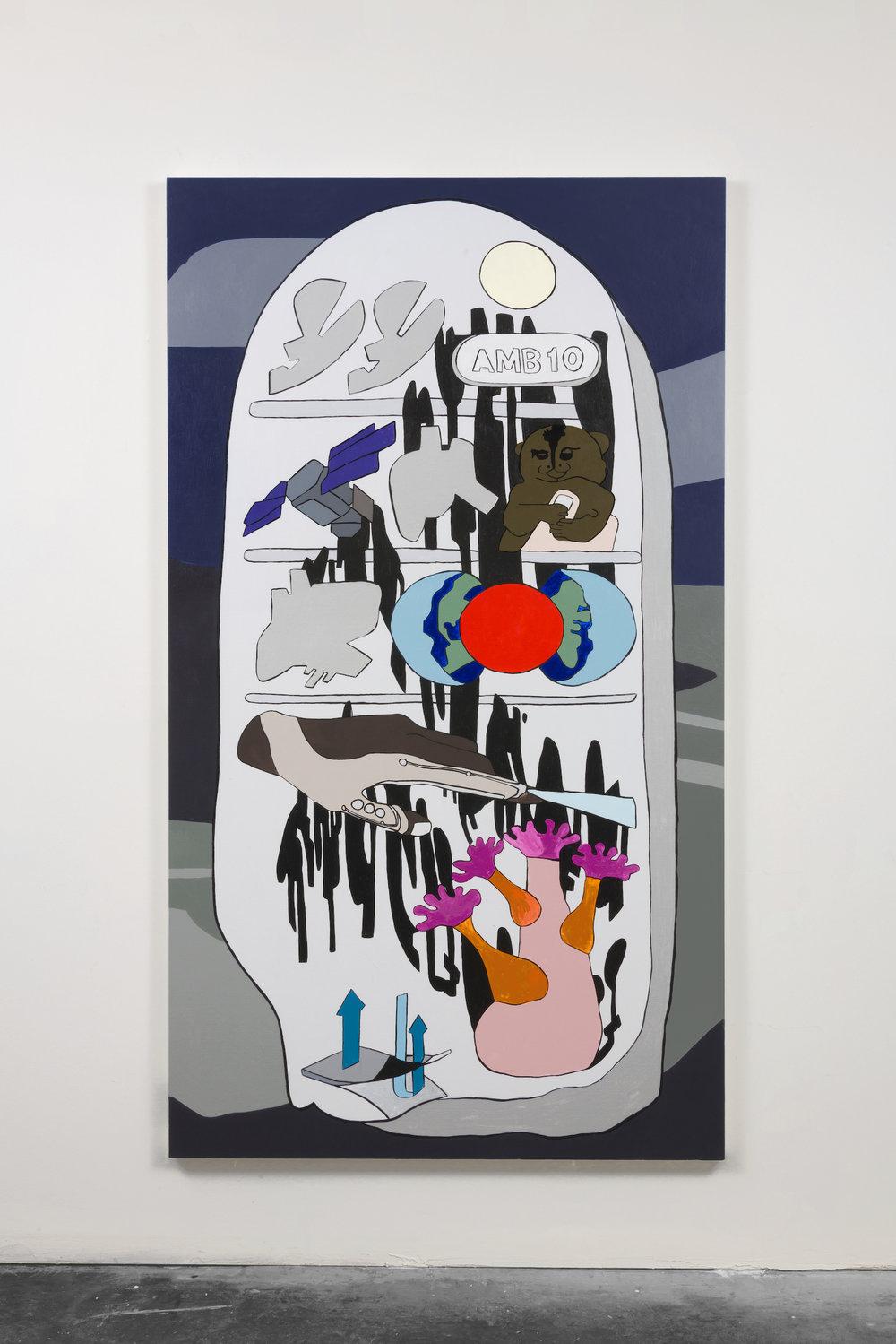Hayal Pozanti,  Paradise of Fugitive Dust,  2018, Acrylic on canvas, 78 x 44 inches
