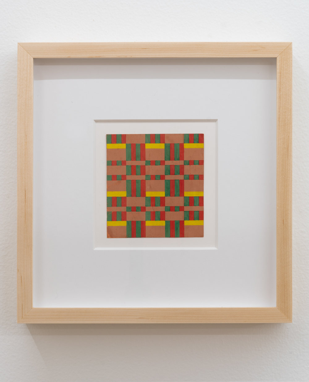 Paula Brunner Abelow,  Pattern,  circa 1940s, Tempera on paper, 4 x 4 inches