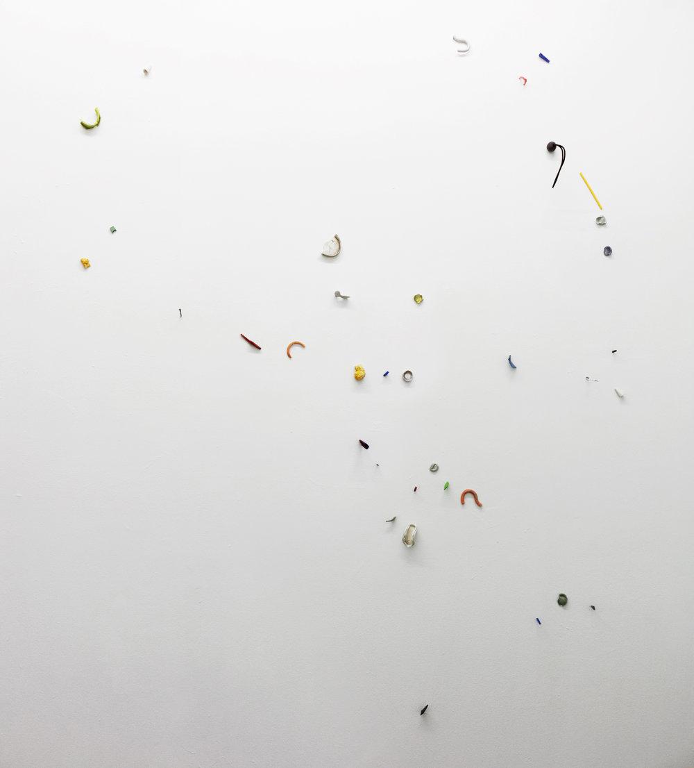 """Irini Miga,  Notes on Origin , 2018, glazed ceramic, in total: 84"""" x 60"""" x 5 """""""