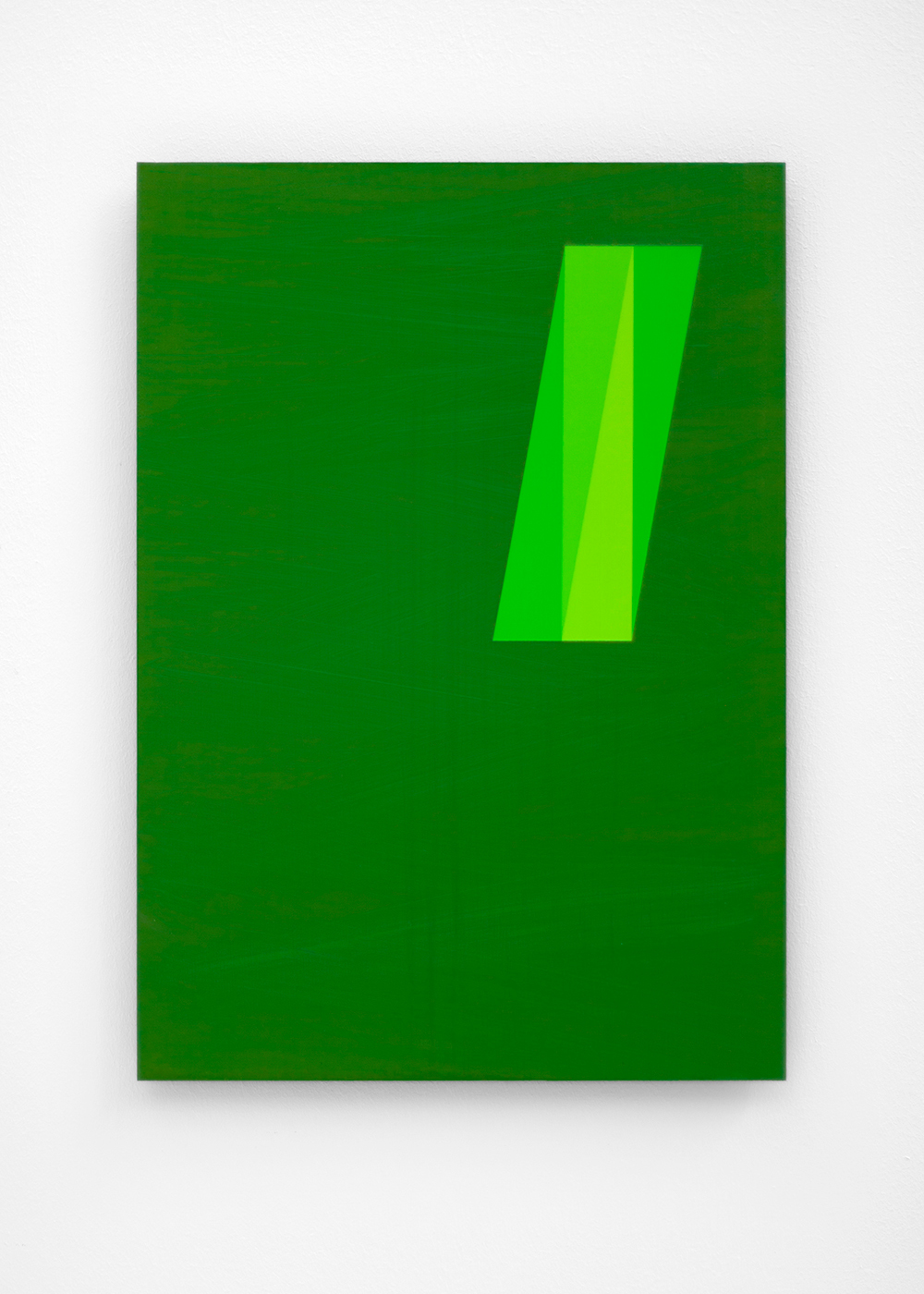Anders Sletvold Moe.  The Green Series # 16 , 2018. Oil and acrylic on plexi glass. 11.69 x 16.53 inches