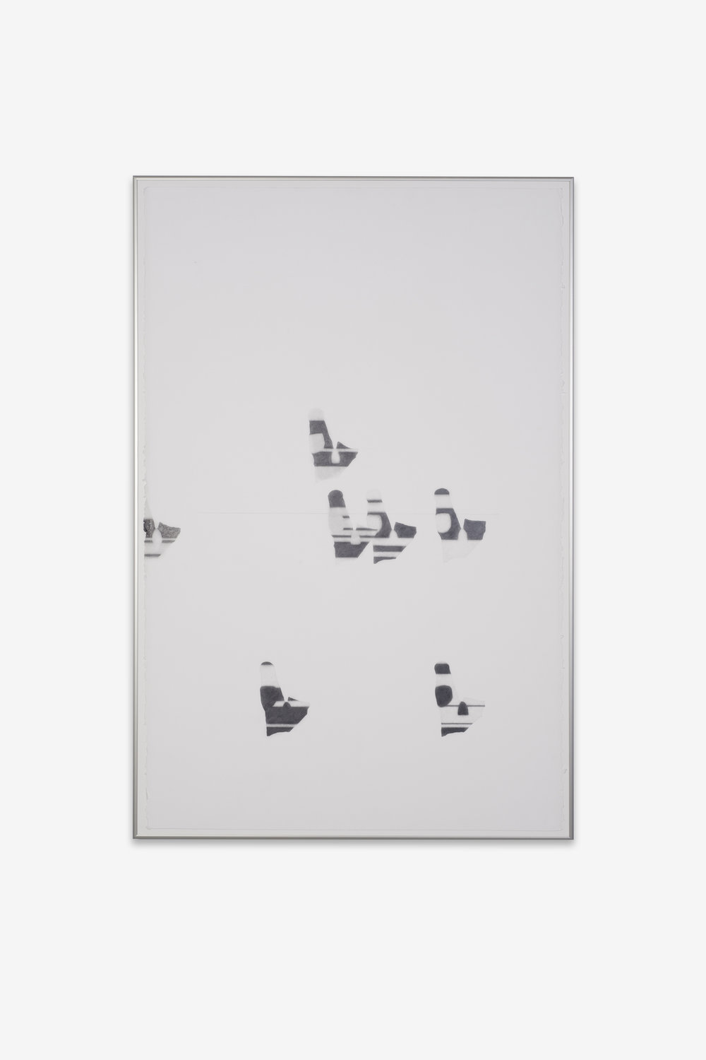 Laura Figa,  Untitled , 2018, graphite drawing on paper, 26 x 40 inches