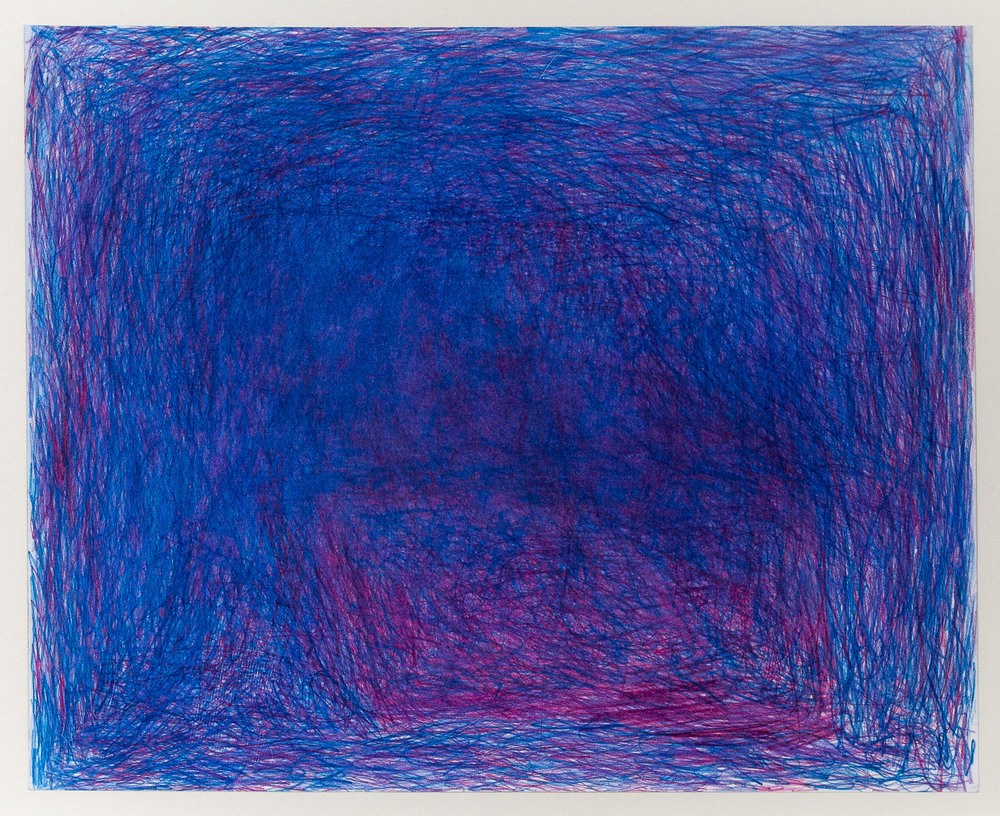 """Susan Pasowicz,  Maybe Bring Some Happiness into the Future,  2017, Color Pencil on Paper, 17.5"""" x 13.5"""""""