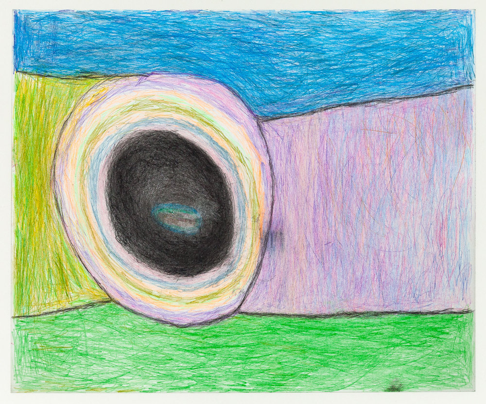 """Susan Pasowicz,  Something Super , 2019, Color Pencil on Paper, 17.5"""" x 13.5"""""""