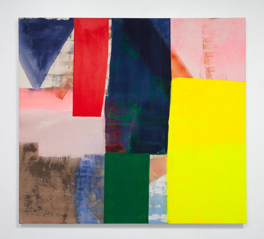 """Anna Kunz, Helios, 2017, Acrylic on canvas, 66"""" x 60"""