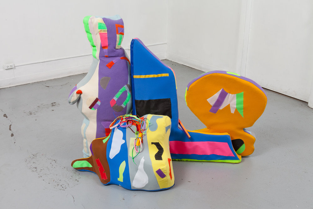 Lindsey Whittle,  #connect,  2016, Felt, Velcro, thread, Dimensions variable