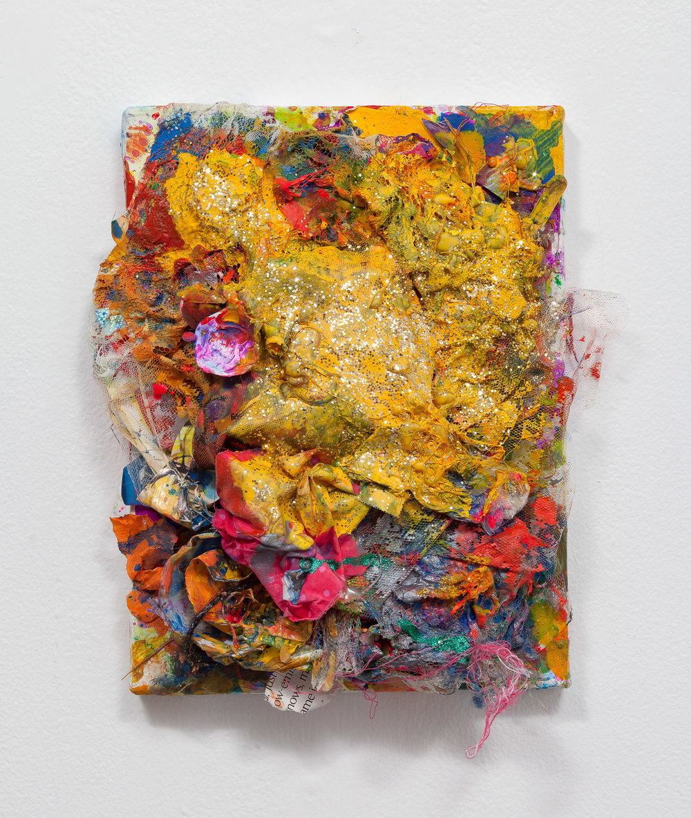 """Hubert Posey,  Untitled , 2017, Mixed Media on Canvas, 9"""" x 12"""""""