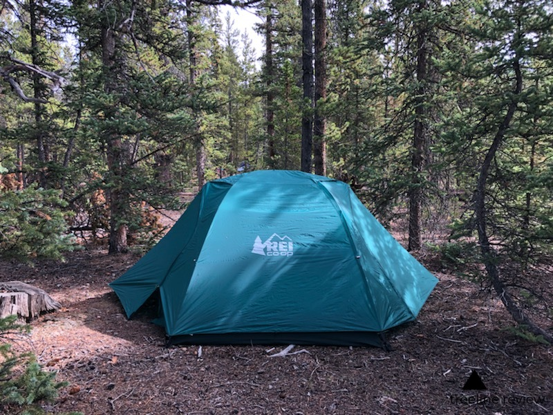 the best hybrid car camping and backpacking tent - REI Half Dome Plus 2Read why→